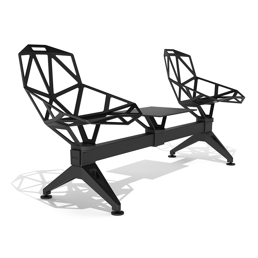 Magis chair one public seating system 2 3d model for Magis chair one