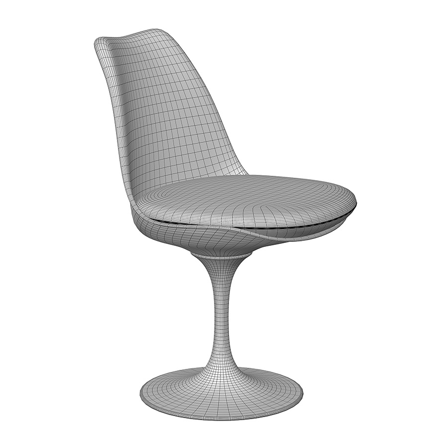 0213 Knoll Tulip Chair Model From