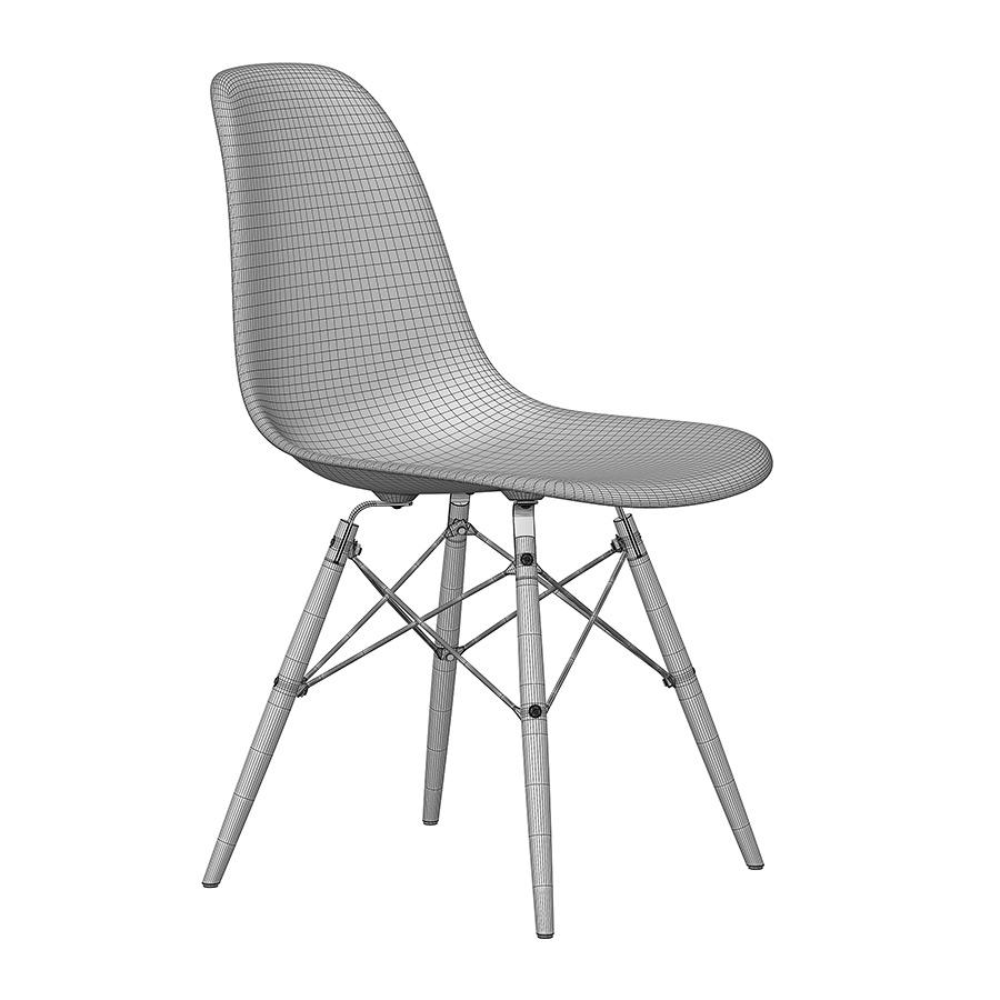 eames plastic side chair dsw 3d model. Black Bedroom Furniture Sets. Home Design Ideas