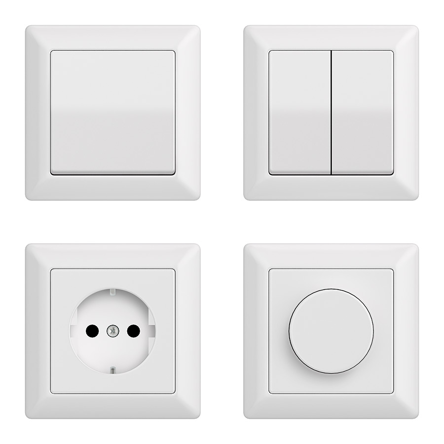 Switches and sockets free 3d models