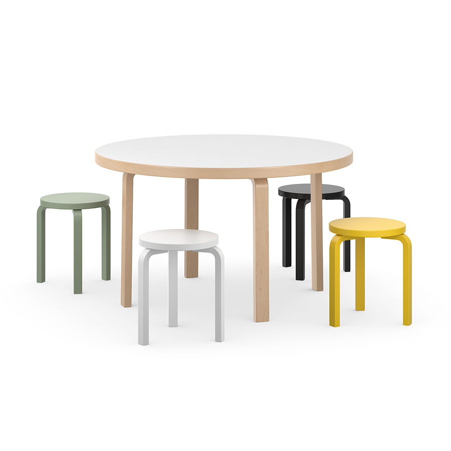 Round Table And Stool Model