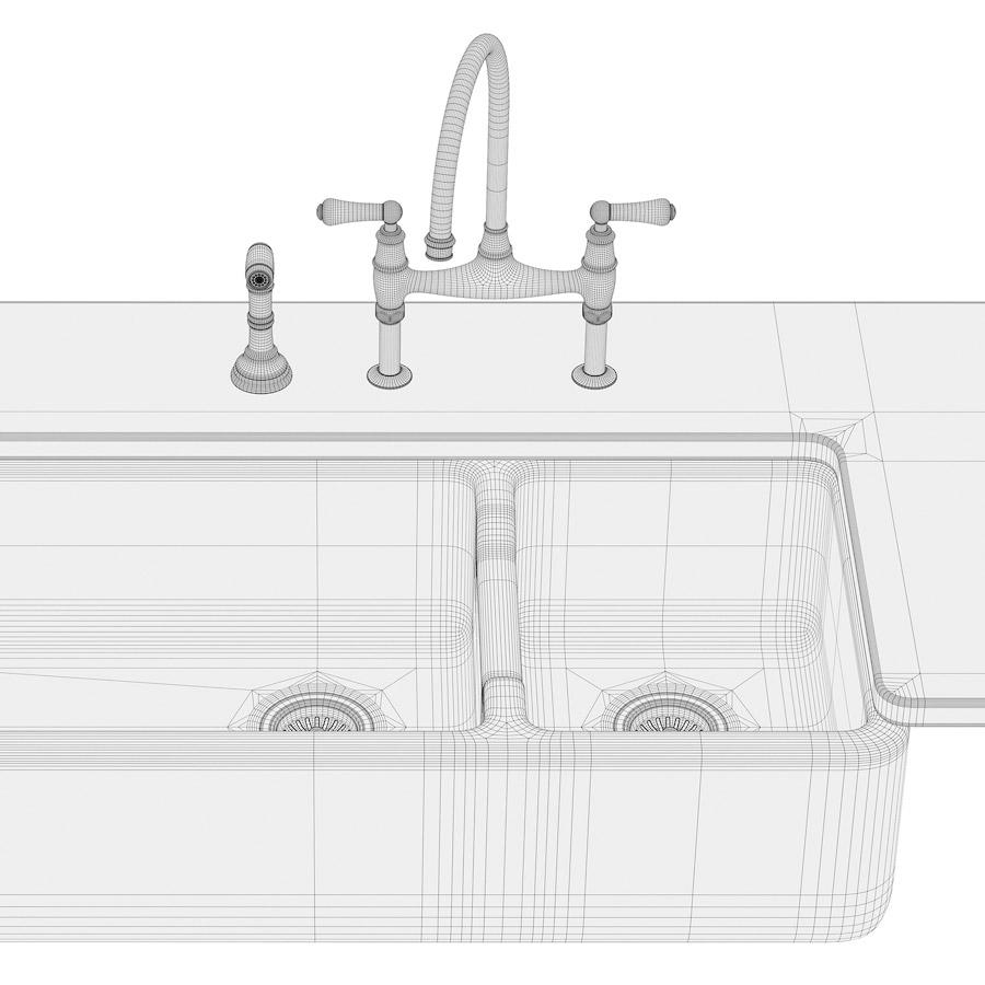 Ceramic farmhouse sinks 3d model